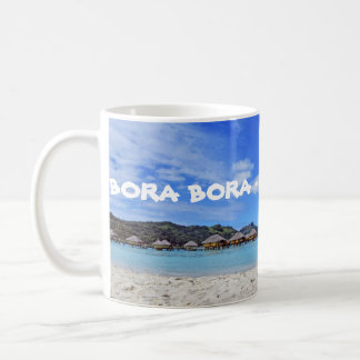 Bora Bora French Polynesia Overwater Bungalows Mug