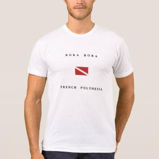 Bora Bora French Polynesia Scuba Dive Flag T-shirts