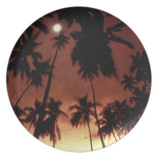 Bora Bora, French Polynesia Sunset shot through Party Plate