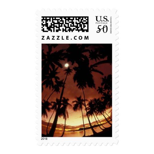 Bora Bora, French Polynesia Sunset shot through Postage