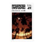 Bora Bora, French Polynesia Sunset shot through Stamps