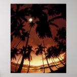 Bora Bora, French Polynesia Sunset shot through Posters