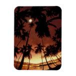 Bora Bora, French Polynesia Sunset shot through Vinyl Magnets