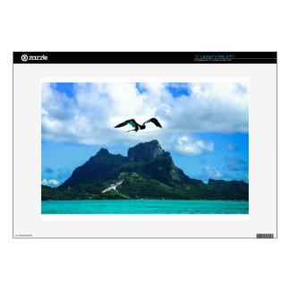 Bora Bora French Polynesia Tropical Bird Sky Laptop Skin