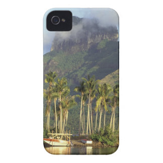 Bora Bora, French Polynesia Waterfront scene and iPhone 4 Case-Mate Case