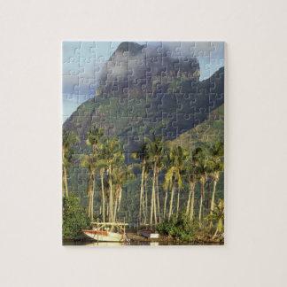 Bora Bora, French Polynesia Waterfront scene and Jigsaw Puzzle