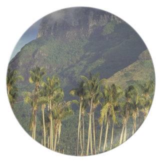 Bora Bora, French Polynesia Waterfront scene and Party Plates