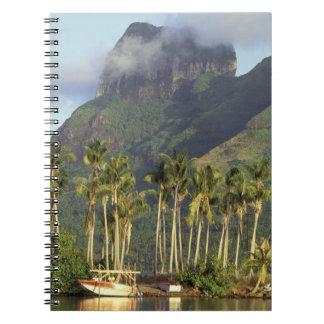 Bora Bora, French Polynesia Waterfront scene and Spiral Notebook