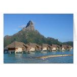 Bora Bora Huts Card