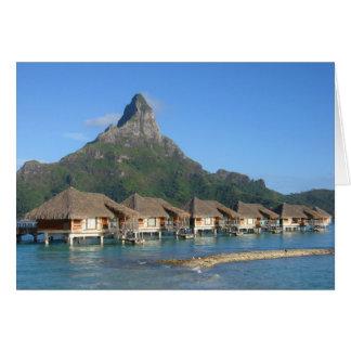 Bora Bora Huts Greeting Card