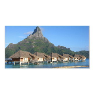 Bora Bora Huts Custom Photo Card