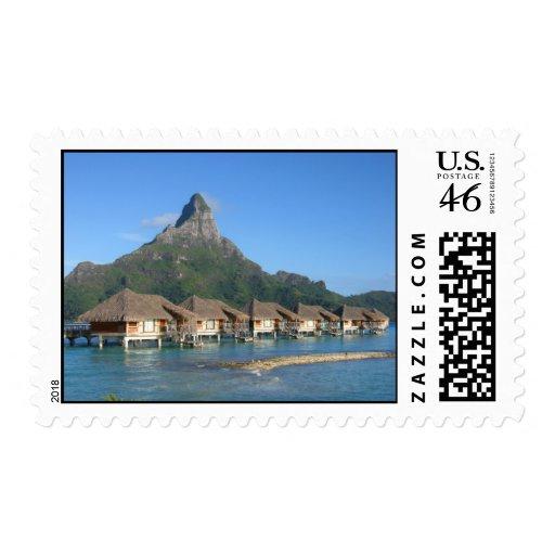 Bora Bora Huts Stamps