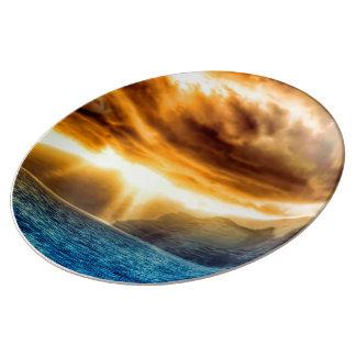 Bora Bora Island Porcelain Plate