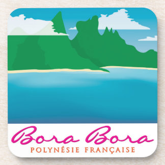 Bora bora landscape drink coaster