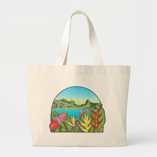 Bora Bora Large Tote Bag