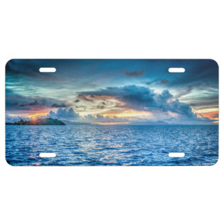 Bora Bora Ocean View License Plate