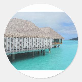 Bora Bora Pegatina Redonda