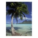 Bora Bora, Polinesia francesa Mt. Otemanu visto Postal