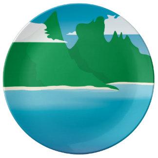 Bora Bora Porcelain Plate