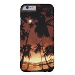 Bora Bora, puesta del sol de Polinesia francesa Funda De iPhone 6 Barely There