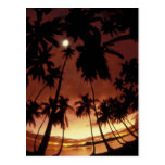 Bora Bora, puesta del sol de Polinesia francesa Postal