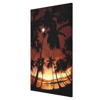 Bora Bora, puesta del sol de Polinesia francesa ti Impresión En Lona Estirada