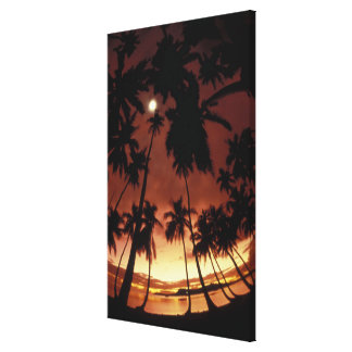 Bora Bora, puesta del sol de Polinesia francesa ti Impresion De Lienzo