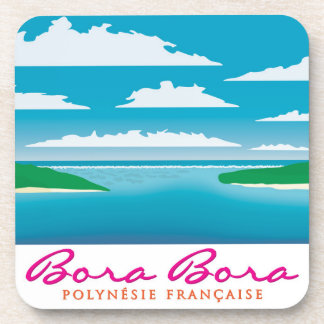 Bora Bora reef Beverage Coaster