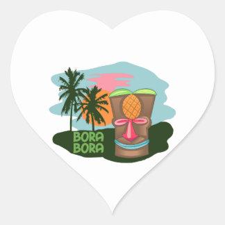 BORA BORA HEART STICKERS