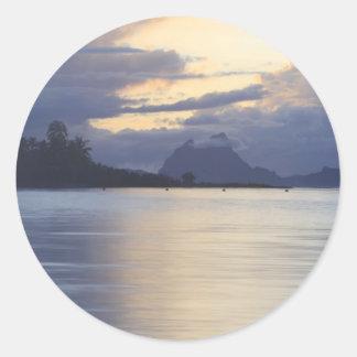 Bora Bora Sunset.JPG Pegatina Redonda