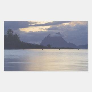 Bora Bora Sunset.JPG Pegatina Rectangular