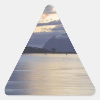 Bora Bora Sunset.JPG Triangle Sticker