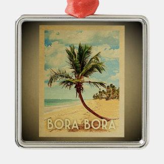 Bora Bora Vintage Travel Ornament Palm Tree