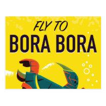 Bora Bora vintage travel poster Postcard