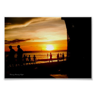 Boracay Beach by Night - Value Paper Poster(Matte) Poster