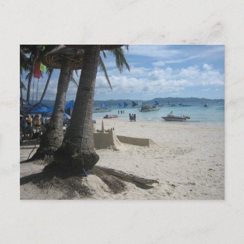 Boracay beach postcard