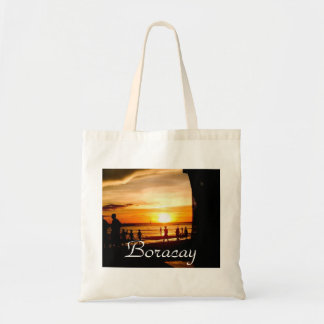 Boracay by  Night, Philippines - Budget Tote Bags