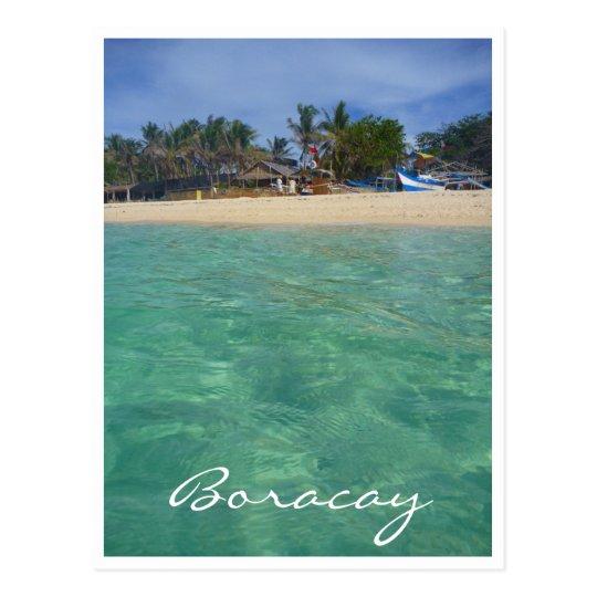 boracay clear waters postcard