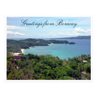 boracay island greetings postcards