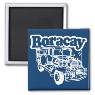 Boracay Jeepney 2 Inch Square Magnet