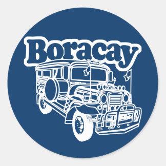 Boracay Jeepney Classic Round Sticker