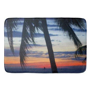 Beach Themed Boracay sunset bathroom mat