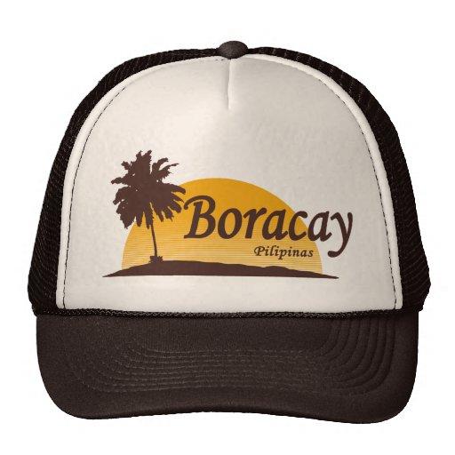 Boracay white trucker hat