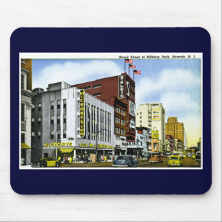 Borad Street at Military Park, Newark, New Jersey Mouse Pad
