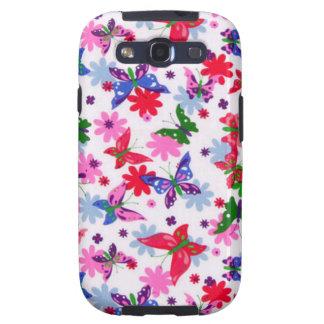 borboletas de COM del padrão Galaxy S3 Fundas