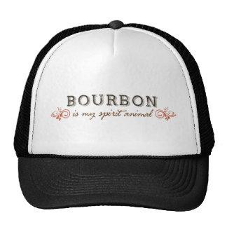 Borbón es mi animal del alcohol gorros bordados