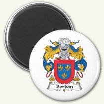 Borbon Family Crest Magnet