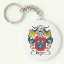 Borbon Family Crest Keychain