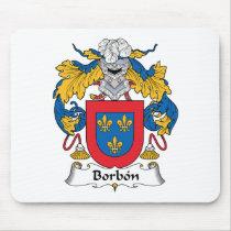 Borbon Family Crest Mousepad