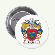 Borbon Family Crest Button